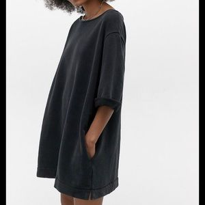 UO Black sweatshirt minidress, NWOT